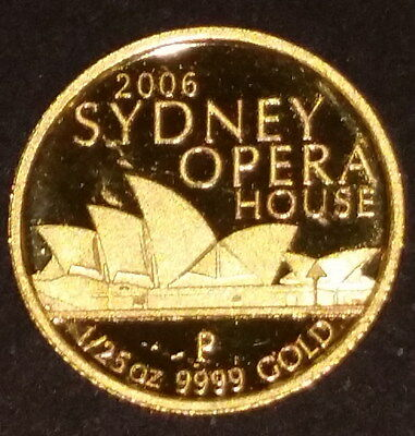 2006 Australian 1/25 oz  Sydney Opera House Gold Coin Great Gift