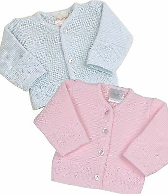 BABYPREM Baby Clothes Premature Tiny Early Pink Blue Cardigan Cardie 3-5lb 5-8lb