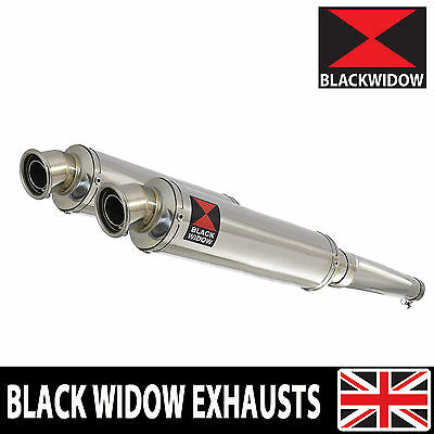 Yamaha TDM 900 2-2 Exhaust Silencer Kit Round Stainless Steel Silencers SN35R