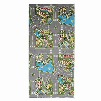 100x200cm Hygienic Soft Childrens Vinyl Road Activity Play Fun Mat Rug for Kids