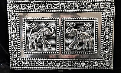 L@@k! Indian Moroccan Style Silver Pressed Metal Jewellery Box Tarot Chest- Bx56