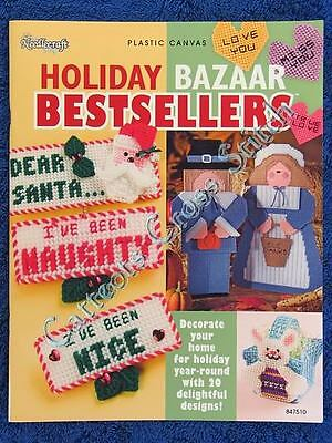 Plastic Canvas Pattern Holiday Bazaar Bestsellers 20 Designs Christmas Easter