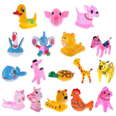 30-55cm Inflatable Animal Toy Blow Up Toy Kid Swimming Pool Party Decoration