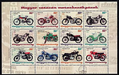Hungary 2014 Motorcycles Motor Bikes Old-Timer Miniature Sheet Unmounted Mint