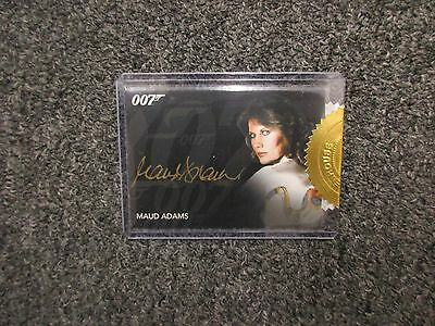 2017 James Bond Archives Final Edition Maud Adams Gold Signature Autograph Card