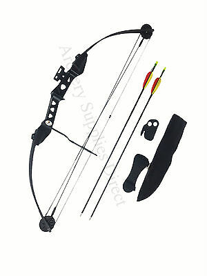 ASD Striker Black Archery Compound Bow W Adj D-Weight 19-29Lbs & D-Length 24-26""