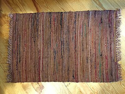 Sturbridge Rag Rug- 2' x 3' - 100% Cotton - color -Spice
