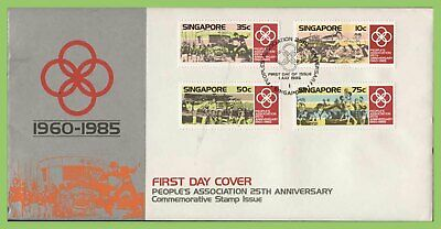 Singapore 1985 25th Anniv of People's Association set on First Day Cover