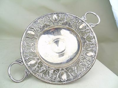 Antique Early Silver Plated Wmf Footed Stand Bowl Dish Bonbon