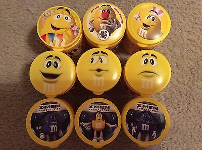 m&m's bottles red & yellow lot of 17