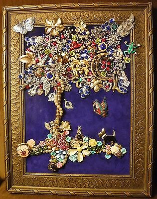 Jewelry Art Tree of Life, just full of Sparkle, signed by Artist,