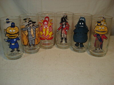Mcdonald's 1977 Collector Series Character Glasses - Never Used - Set Of 6