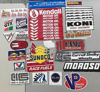 Vintage & Modern racing stickers & decals - Kendall, Koni, Castrol, Shelby, etc.