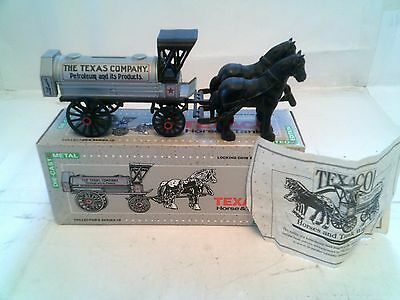 Ertl-Collector's Series #8. Texaco Horse & Tanker. Locking Coin Bank With Key.