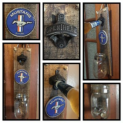 Ford Mustang Garage new bottle opener Vintage Retro Barware Home Decor Man Cave