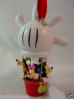 """Mickey Mouse Clubhouse Balloon 5"""" Resin Christmas Ornament 2008 Disney Store"""
