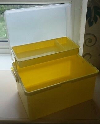 Mothercare baby vanity box bath box yellow EXCELLENT CONDITION