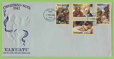 Vanuatu 1982 Christmas set on First Day Cover