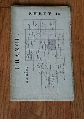 France Sheet 16 printed  map of Troyes, Clamecy France 1914