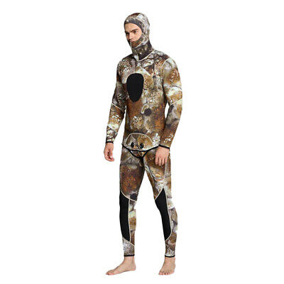 Mens Camouflage 3mm Neoprene Two-Piece Diving Spearfishing Wetsuits Size S