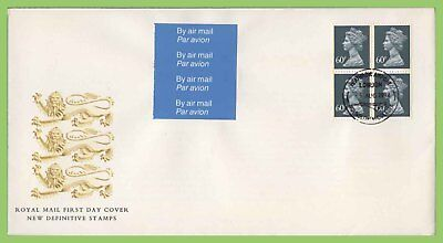 G.B. 1994 4 x 60p Airmail booklet pane on Royal Mail First Day Cover, Heathrow
