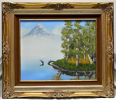 Estate Found Cindy W. '73 Vintage Mountains & Wilderness Oil Painting (Framed)