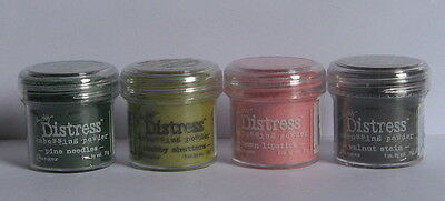 Ranger - Tim Holtz Distress Embossing Powder - Lot of 4 - Mixed Colours - New.