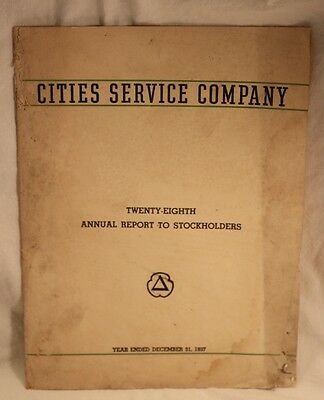 1937 Cities Service Company Stockholders Annual Report