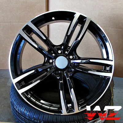 """20"""" Wheels fits BMW 5 6 Series M6 Sport Style 437 in Black Machined Rims"""