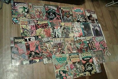 26 dc and marvel bronze/copper age comic lot,1977 onwards,good-fine.
