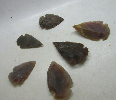 Collection of Neolithic flint arrowheads