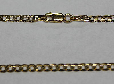 """14k 14kt Solid Yellow Gold 18"""" 20"""" 24"""" 3mm Curb Chain W/ Lobster Clasp"""