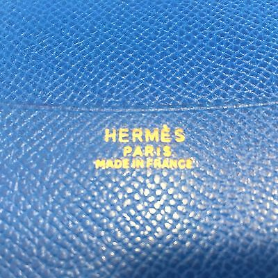 Authentic HERMES Vintage Agenda Note Book Classic French Blue Leather France 7x9