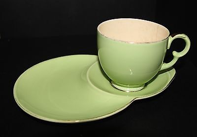 Fine china/Porcelain Tea Cup Set Crown Devon Green Tennis set