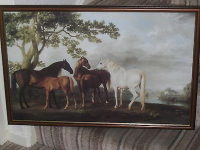 """Antique Landscape SceneCalled """"Mares And Foals"""" By George Stubbs A Framed Print"""