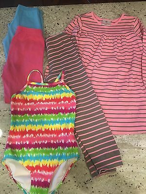 Hanna Andersson girls lot of 5 size 110 bathing suit dress leggings