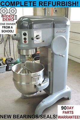 Hobart H600T 60 Qt Quart RARE 220 1 PHASE Bakery Pizza Dough Mixer From a School