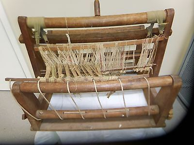 Vintage Wooden Weaving Loom  Circa 1930's