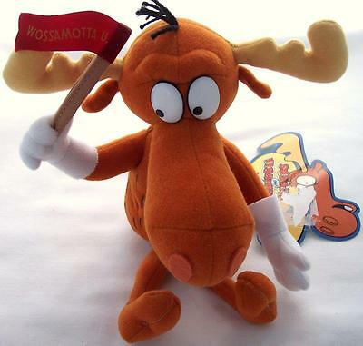"""Limited Edition 1999 Collectible Beans Stuffins Plush Bullwinkle 10"""""""