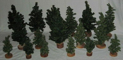 Used*Any Scale Train Track Layout Design PINE TREE LOT*16 Pieces* Various Height