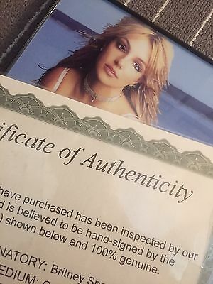 Britney Spears 8x10 Autograph With Certificate Of Authenticity
