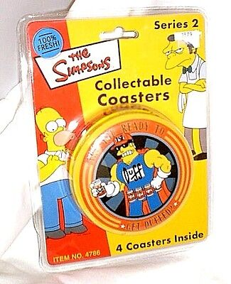 Simpsons Coaster Set Series 2 New Slightly Damaged Packaging
