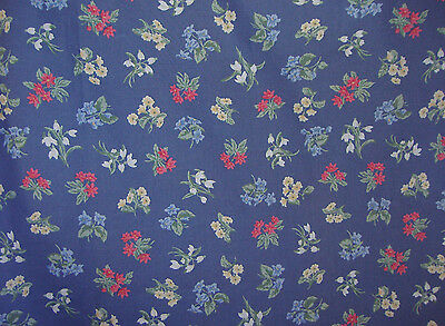 "Laura Ashley enchanting floral print cotton lawn fabric 43"" x 57"". Vintage 1980s"
