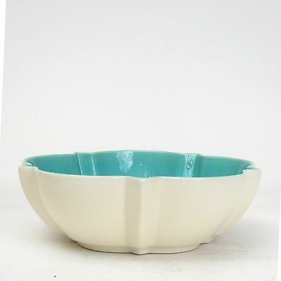 Catalina Pottery GMB Franciscan Avalon Ware Turquoise & Ivory Star Bowl #CAP2345