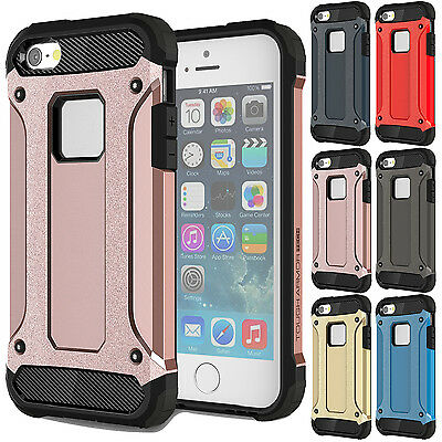 """Shockproof Hybrid PC Rubber Defender Protective Case For iPhone 7 Plus 5.5"""" Pink"""