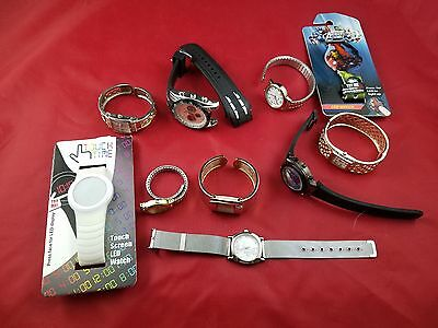 Lot Of 10 Watches For Parts Or Repair - Timex, Studio, Accutime, U.s. Polo Assn.