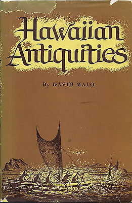 Vintage Hawaii 1951 HAWAIIAN ANTIQUITIES by David Malo, Bishop Museum Press
