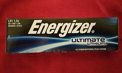24-Pc FRESH Energizer L91 Ultimate Lithium AA Batteries 1.5v AA24 - Exp.2036