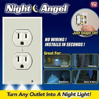Wholesale Home Night Angel Light Sensor LED Plug Cover Wall Outlet Coverplate