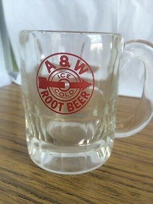 Vintage Very Old Small 3 inches A&W Root Beer Mug Arrow Ice Cold Logo